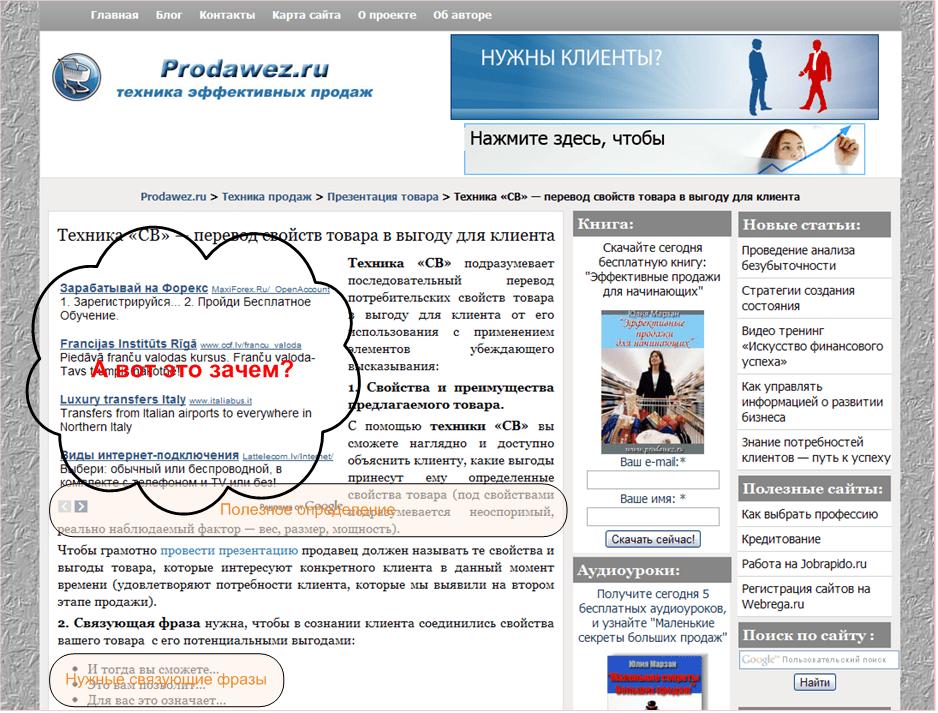 Prodawez.ru свойства и выгоды