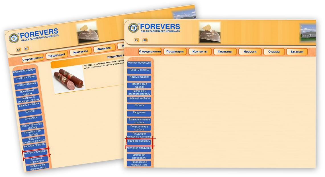 Forevers рубрикация продукции ошибки дизайна