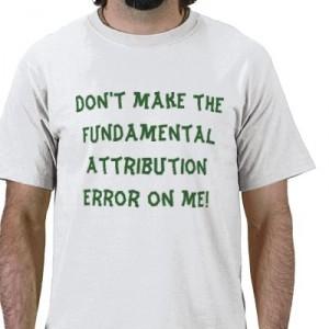 фундаментальная ошибка атрибуции