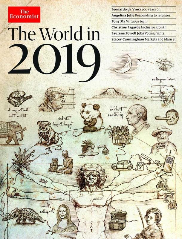 Обложка-прогноз The Economist на 2019 год. Фото: The Economist
